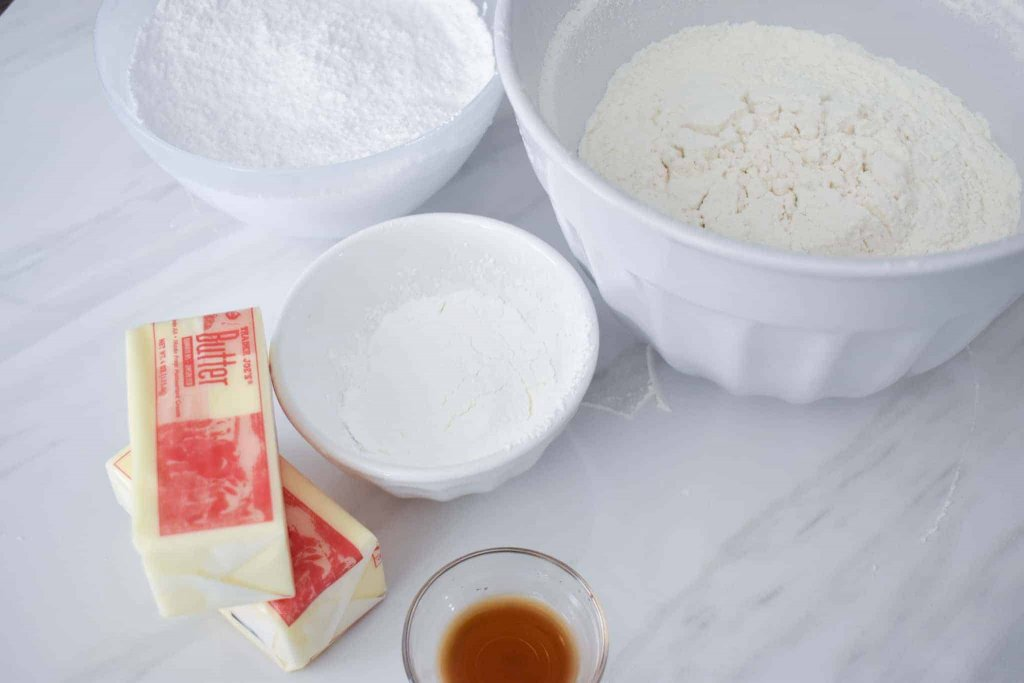 ingredients to make butter cookies