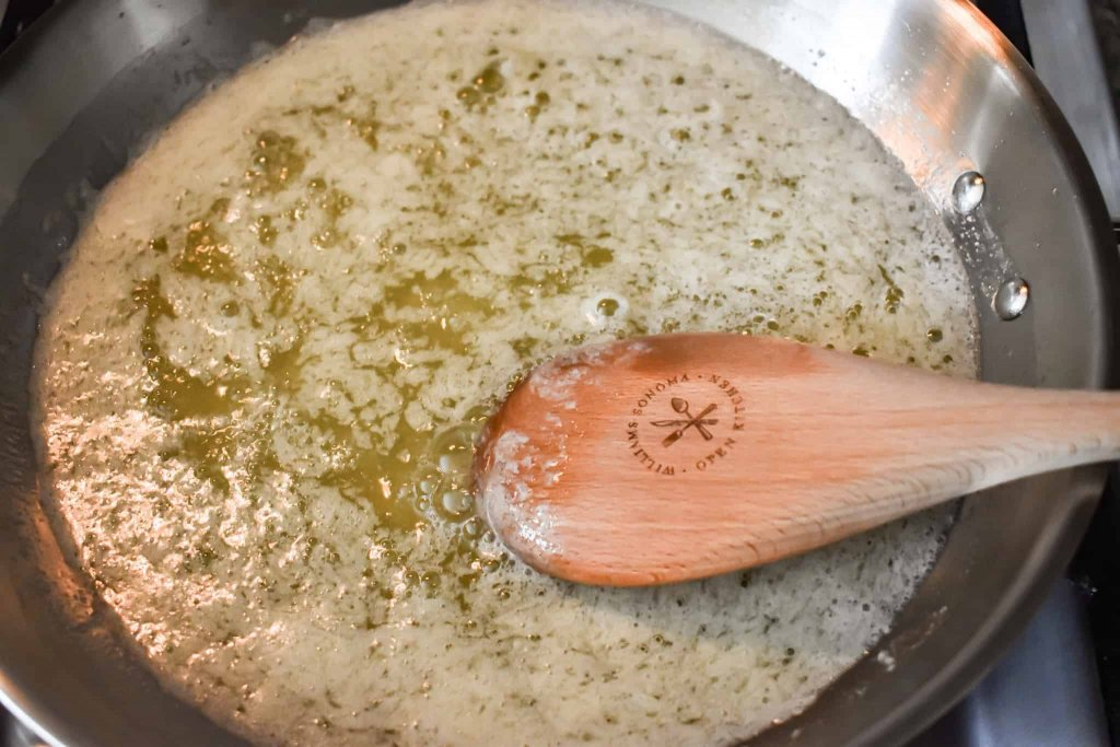 butter being melted in a skillet
