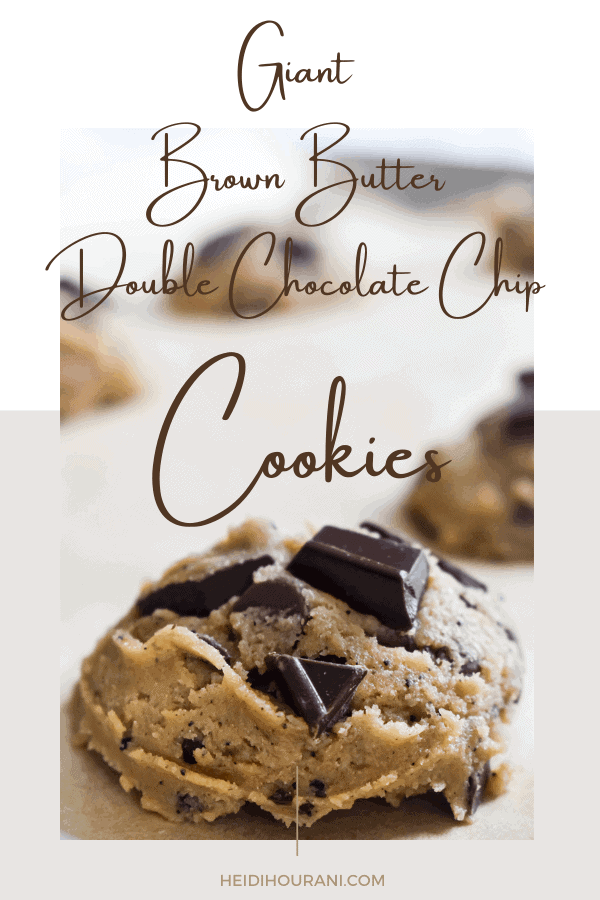 Giant Brown Butter Double-Chocolate Chip Cookies